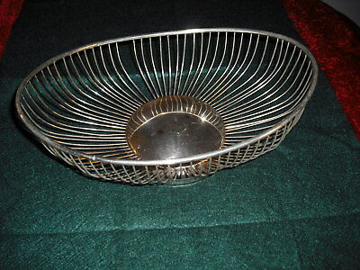 WS Blackinton - Silver Plated Oval Wire Bread Basket