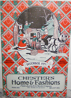1929 Fashion Home Toy Catalog-Chester Dept Store-Beloit-Wi Christmas Cover-Deco