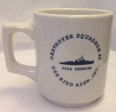 Destroyer Squadron 48 Uss Kidd Assn Inc Coffee Mug / Cup 50Th Reunion Vintage