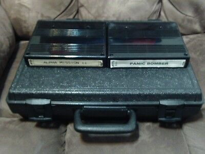 Portable Consolized Neo Geo MVS, Complete in Case, Alpha Mission 2, Panic Bomber