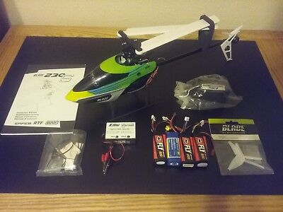 Blade 230s Bind and Fly BNF heli + extra parts and batteries BLH1580