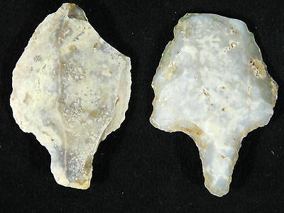 TWO BIG! 100% Authentic 55,000 to 12,000 Year Old Aterian Stemmed Artifacts 43.6