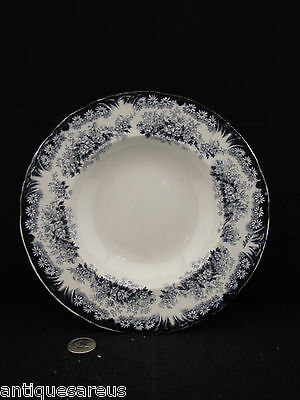 Antique Dudson Wilcox & Till Daisy Pattern Rimmed Soup Bowl