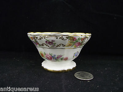 Dresden Sprays Hammersley White And Gold Floral Open Sugar Bowl Or  Bonbon