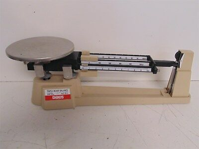 P) Ohaus 800 Series Triple Beam Balance Lab Scale