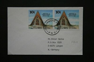 Papua Newguinea, Luftpostbrief von PARLIAMENT HOUSE (PH-1-20) nach Germany, 1465