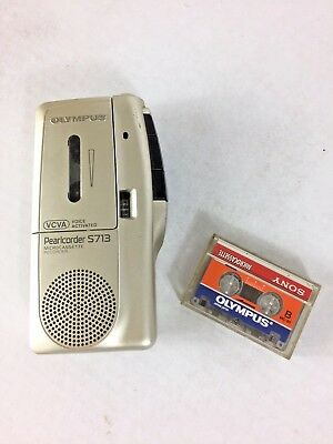 Olympus Pearlcorder S713 Dictaphone Micro-cassette Recorder VCVA voice activated