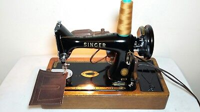 Heavy Duty Singer 99K Electric Sewing Machine, sews Leather,Serviced & PAT test