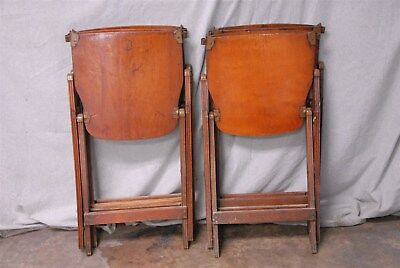4 Vintage 1940's US American Seating Co. Grand Rapids, Mi. Wood Folding Chairs