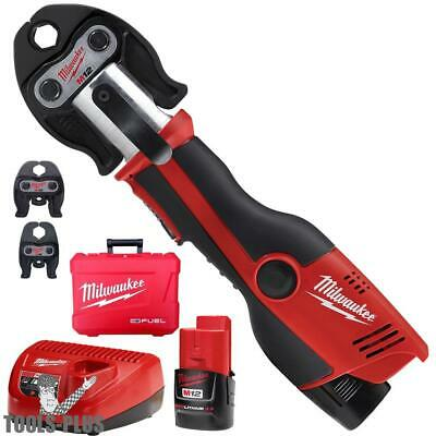 "Milwaukee 2473-22 1/2"" - 1"" M12 Forcelogic Press Tool Kit New"