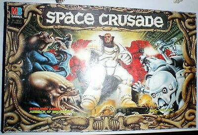 Space Crusade Game 99.9% complete (missing 1 wall section + clip) MB Warhammer