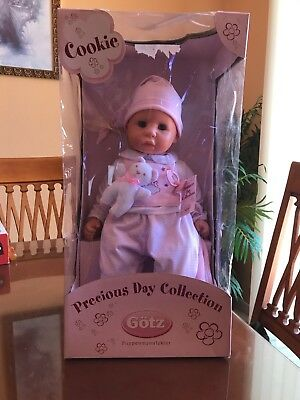 "Gotz Cookie 19"" Soft Baby Boy Doll with Sleeping Eyes & Accessories"
