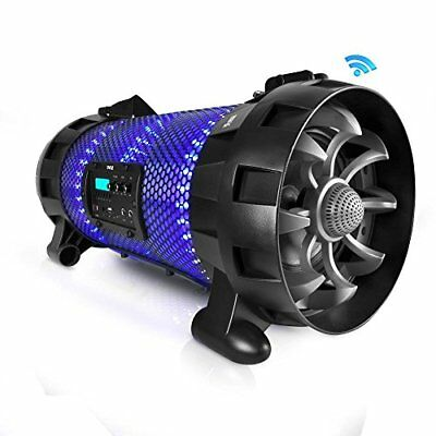 Bluetooth Stereo Speaker System with Multi-Color App Controlled LED Party Lights