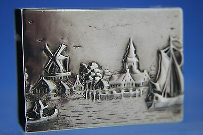 DUTCH SOLID SILVER MATCH BOX COVER - HOLDER - 1923 - 25.7g