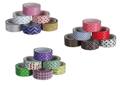 15mm Decorative Self Adhesive Paper Washi Tape for Scrapbook Card Making Planner