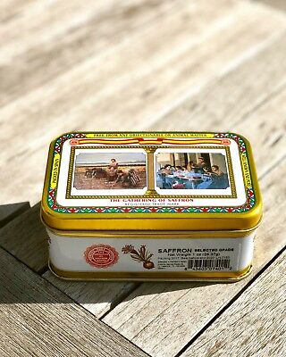 1 oz Tin- The Gathering of Saffron -100% Pure from Spain (28.3 grams)