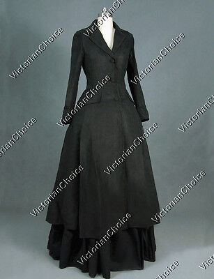 Black Victorian Edwardian Dress Coat Game Of Thrones Theater Clothing C002 S