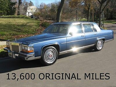 1989 Cadillac Brougham  13,600 ORIGINAL MILES!  LEATHER, Window STICKER, Ice Cold A/C, THE Best, WOW!!!!