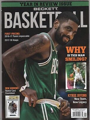 New Current Beckett Basketball Price Guide Magazine, January 2018 (Kyrie Irving)