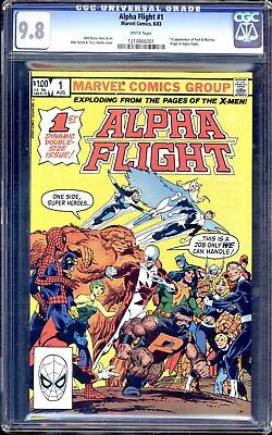 Alpha Flight #1 Cgc 9.8 White Pages  1St Appearance Of Puck And Marrina!