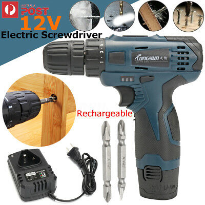 12V Lithium Compact LED Cordless Drill Rechargeable Electric Screwdriver
