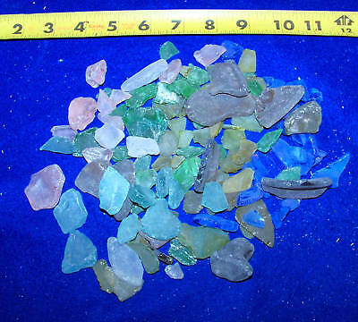 1//2 LB BLUE AQUA TEAL ICE SEAGLASS SEA GLASS CRAFTS WEDDINGS ITEM # 1045-5-.8