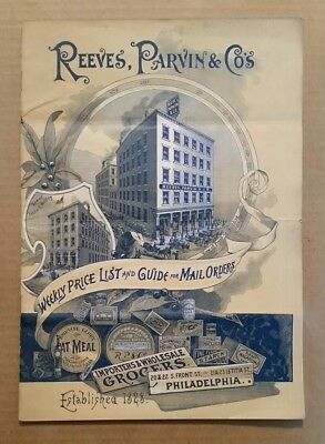 Reeves,Parvin & Co.Importer & Wholesale Grocer,Mail Order Price Guide,1892