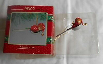 """Lucy & Me Enesco """"a Spoonful Of Love"""" Ornament In Box"""
