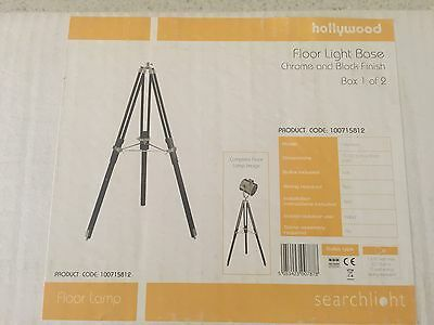Searchlight Hollywood Floor Light Base Only Chrome And Black Finish