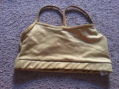 Gold Crop Top By Balera Size Adult Small Excellent Condition