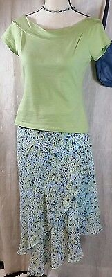 Talbots Kids Young Woman's Printed Long SummerAsymmetrical Skirt Size 20 - $5.99