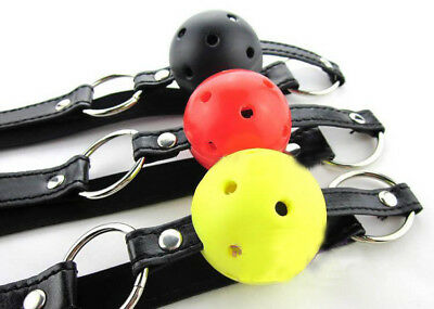 Full Color Open Mouth Breathable Ball Gag, Dungeon Wheel Restraint Fetish Toy
