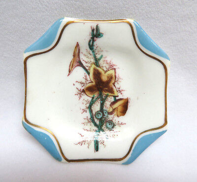 Antique S. B. & Son England Aesthetic Porcelain Butter Pat #1