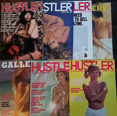 Lot of 7 Vintage Mens Magazines 70s 80s Hustler Gallery