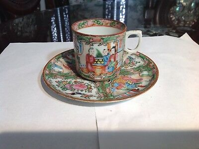 19/20 Th c Chinese Famille Rose Medallion Cup And Sauce