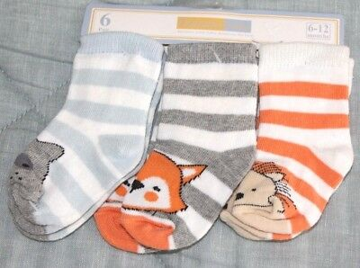 Vitamins Baby 3 Pack Sock Set *NWT* Size 6-12 Months