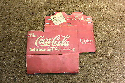 ORIGINAL Coca Cola 6 Pack Cardboard Carton NOS Never Opened Coke