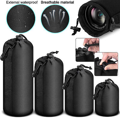 Soft Neoprene Lens Pouch Protective Carry Bag Case for DSLR Camera Size S M L XL