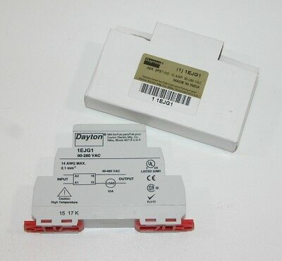Dayton 1EJG1 Solid State 1 Pole DIN Rail Mount 10A, 90-280VAC Relay BRAND NEW