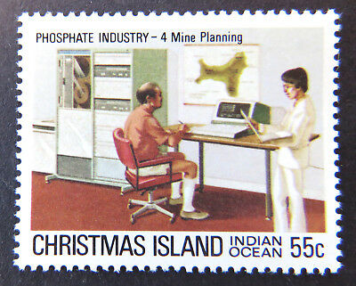 1980 Christmas Island Stamps - Phosphate Industry I - Single 55c - Planning MNH