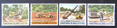 1980 Christmas Island Stamps - Phosphate Industry II - Set of 4 MNH