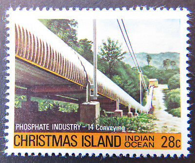 1980-1981 Christmas Island Stamps - Phosphate Industry IV - 28c - Conveying MNH