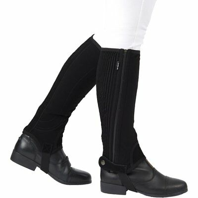 Dublin Adults Easy-care Half Unisex Footwear Chaps - Black All Sizes