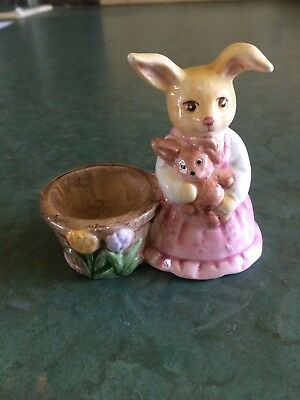 Miss Rabbit Ceramic Novelty Egg Cup