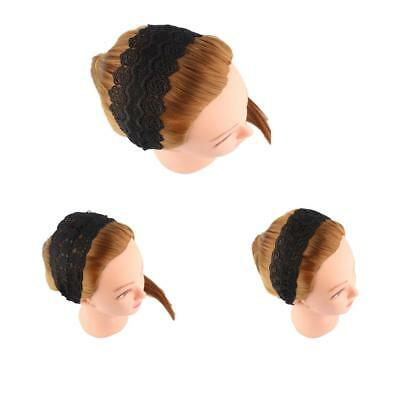 Exquisite Handmade Wide Alice Lace Headband Hairband Head Wraps for Women Girl
