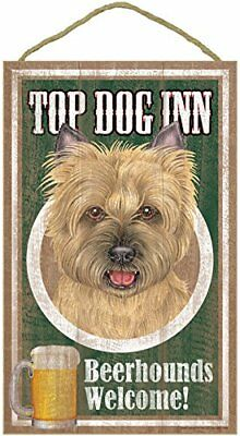 "Top Dog Inn Beerhounds Cairn Terrier red Bar Sign Plaque dog 10"" x 16""  Beer"