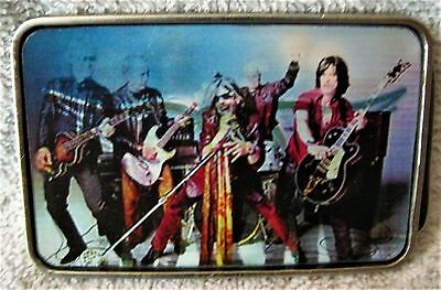 Rare- Holgraphic - 3 Picture - Aerosmith - Belt Buckle - 2 Of Band - 1 Of Logo!!