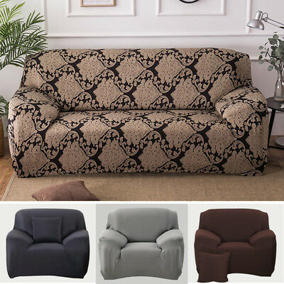 STRETCH CHAIR SOFA Covers 1 2 3 Seater Protector Loveseat ...