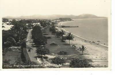 Vintage Postcard Strand Road Towards Kissing Pt Townsville Qld W J Laurie