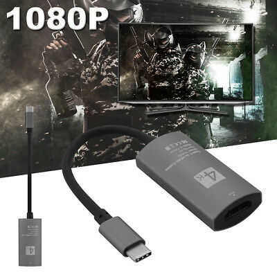 USB-C Type C USB3.1 Male to HDMI Female 4K HDTV Adapter Cable for Macbook AC1067